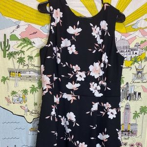 Liz Claiborne Flower Print Midi-length Dress
